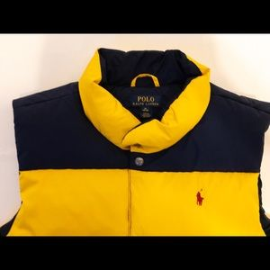 🔥🐎 Polo by Ralph Lauren Vest Blue/Yellow YouthXL